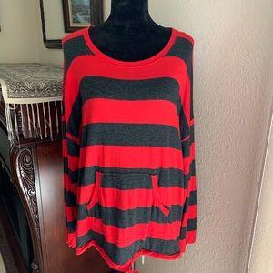 Kensie Striped Sweater Size XXL